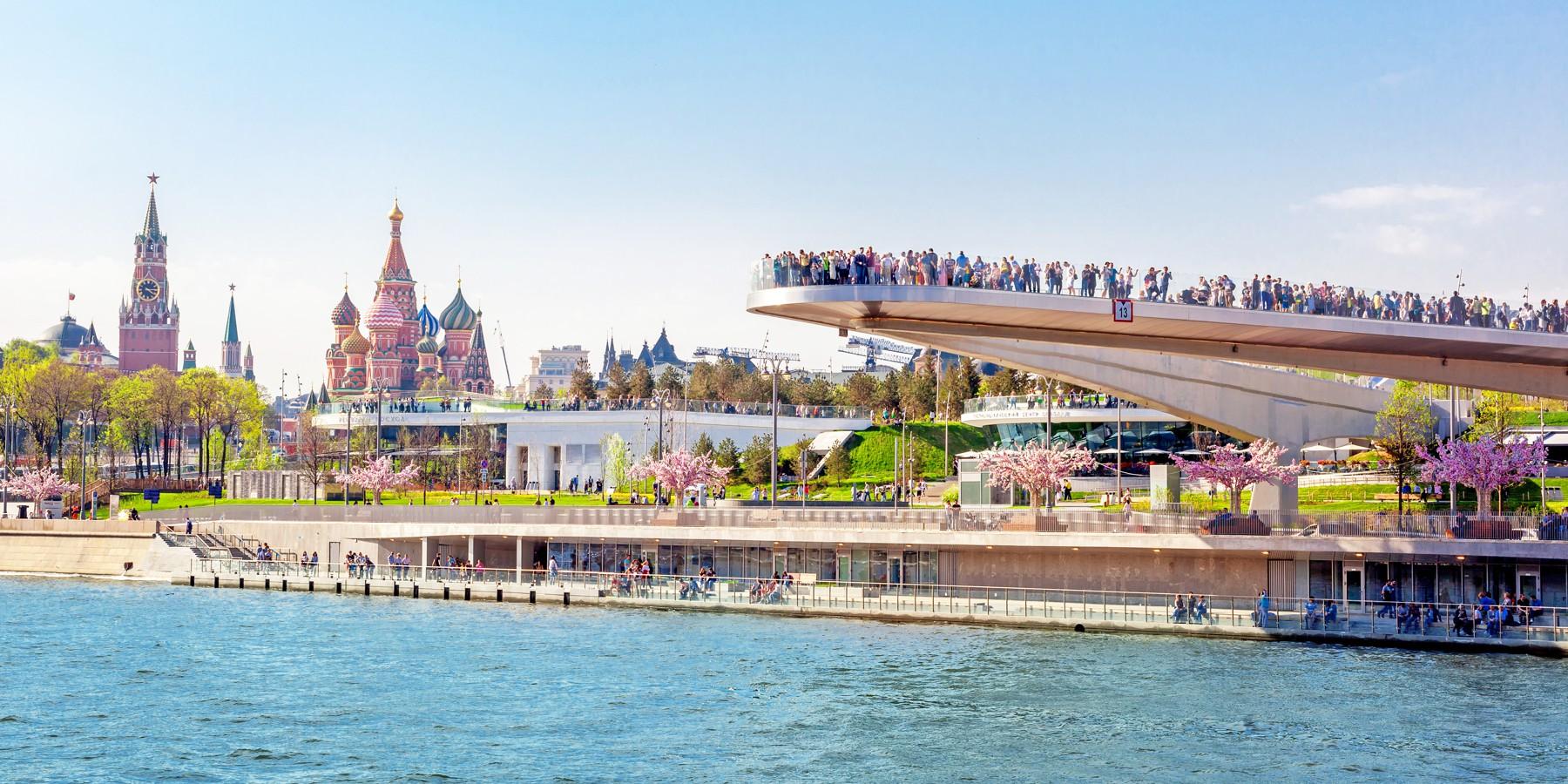 В мэрии назвали количество посетивших парк «Зарядье» туристов