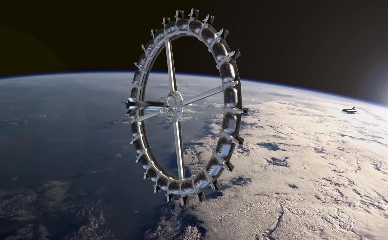Показали интерьеры первого в мире космического отеля